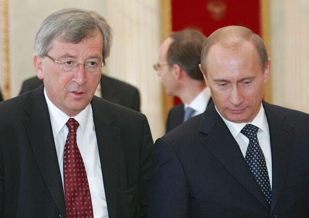 Russian President Vladimir Putin and Jean-Claude Juncker