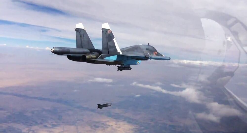 Russian air force strike the Islamic State in Syria