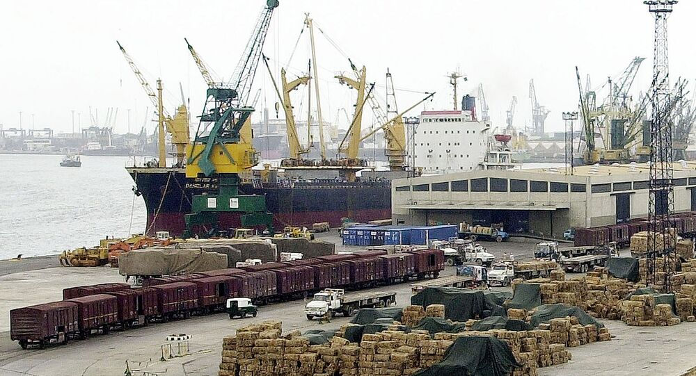 General view of Pakistani port Karachi