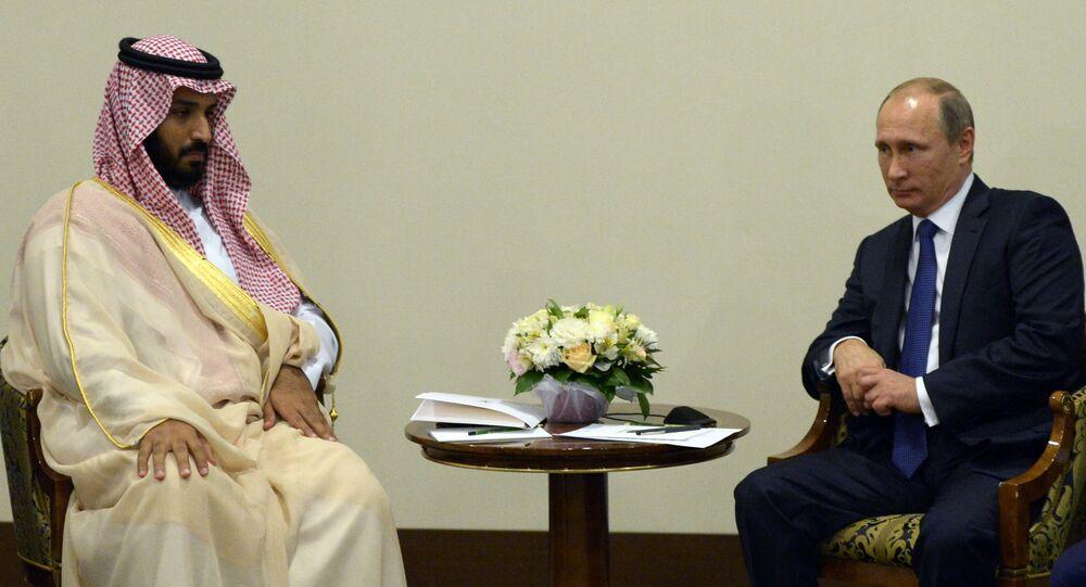 Vladimir Putin meets with Deputy Crown Prince and Defence Minister of Saudi Arabia Mohammad bin Salman Al Saud