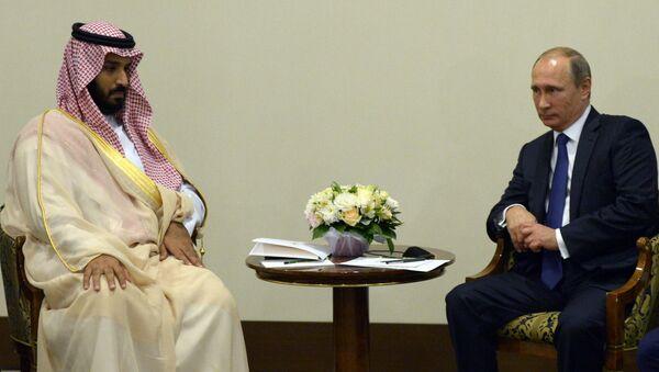 Vladimir Putin meets with Deputy Crown Prince and Defence Minister of Saudi Arabia Mohammad bin Salman Al Saud - Sputnik International