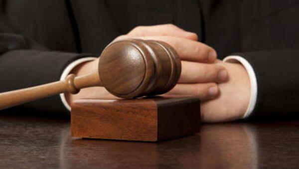 Judge. Referee hammer and a man in judicial robes. - Sputnik International
