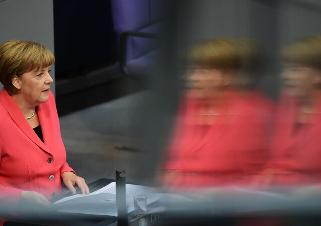 German Chancellor Angela Merkel addresses the Bundestag, the lower house of parliament in Berlin on September 24, 2015. Merkel said that a European Union deal to relocate 120,000 refugees was far from what was necessary to resolve the biggest migrant crisis facing the region since World War II.