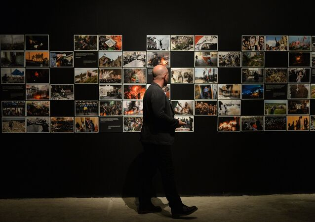 Photo exhibition of the winning entries of the Andrei Stenin International Press Photo Contest – 2015. File photo