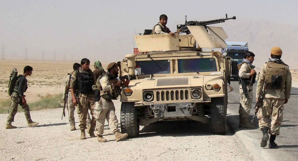Afghan security forces prepare to check on reports of a possible ambush by the Taliban on the Baghlan-Kunduz highway, Afghanistan October 1, 2015