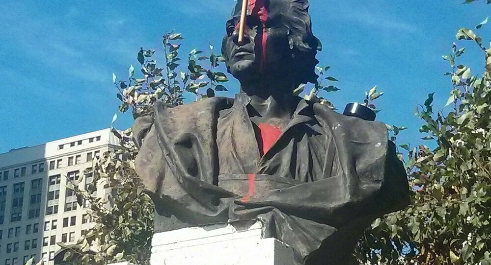 Someone's not that excited to celebrate Columbus day