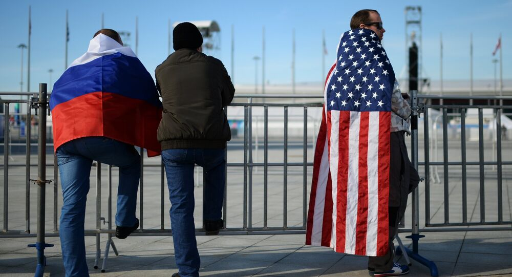 Sports fans in the Olympic Park in Sochi. File photo