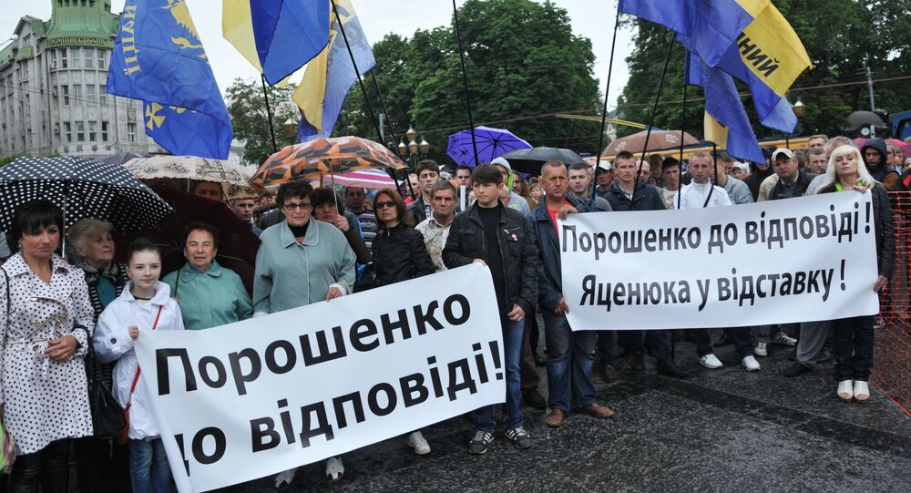 Protests against increased utilities tariffs in Lvov