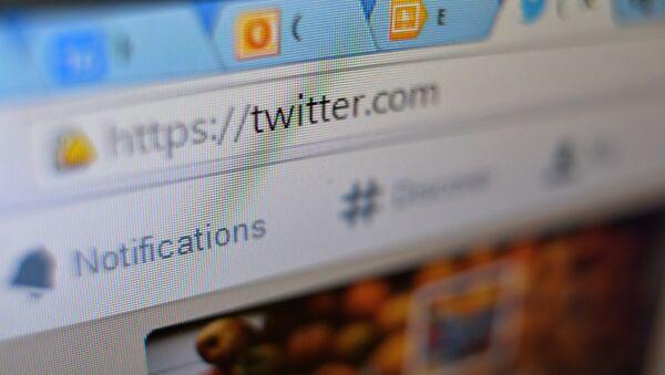 Twitter page in browser window - Sputnik International