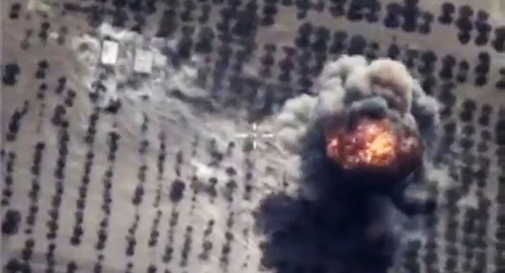 Russian Aerospace Forces conduct targeted air strikes on armored vehicles, fuel and lubrication materials storages