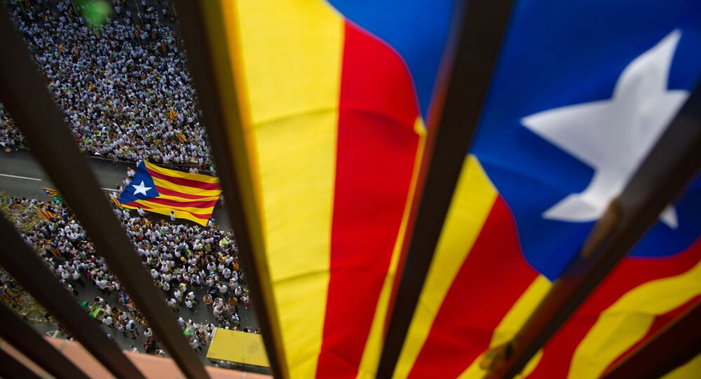 National Day of Catalonia celebrated in Barcelona