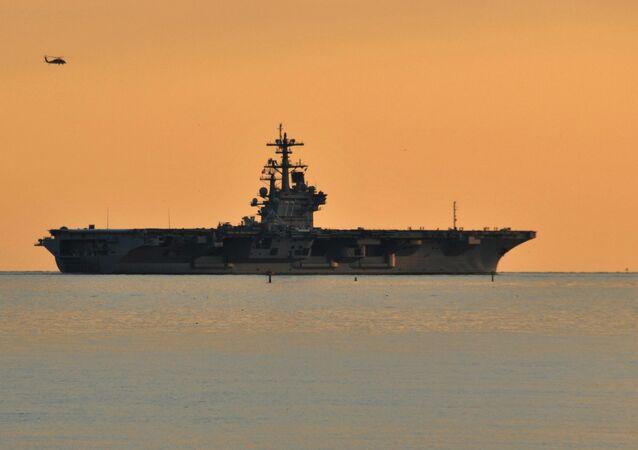 USS George H.W. Bush (CVN 77) departs Naval Station Norfolk