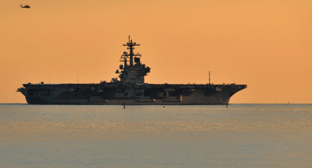 USS George H.W. Bush (CVN 77) departs Naval Station Norfolk