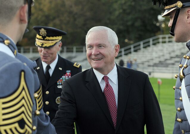 Robert M. Gates rides greets Cadets at West Point, N.Y., on Thursday, Oct. 6, 2011.