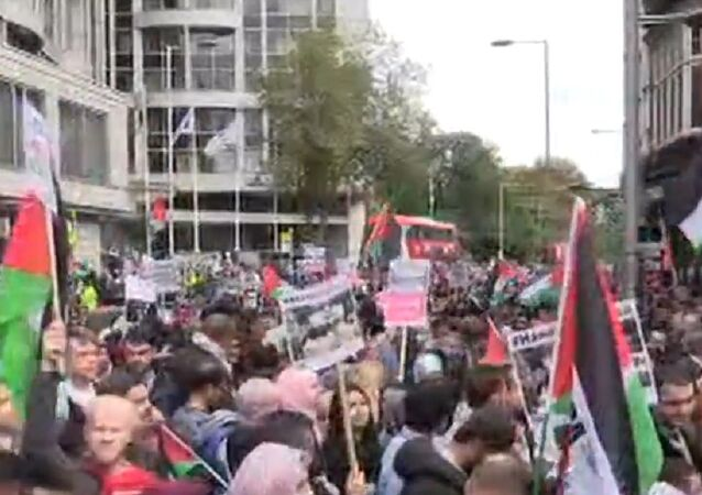 UK activists hold Palestine solidarity protest in London