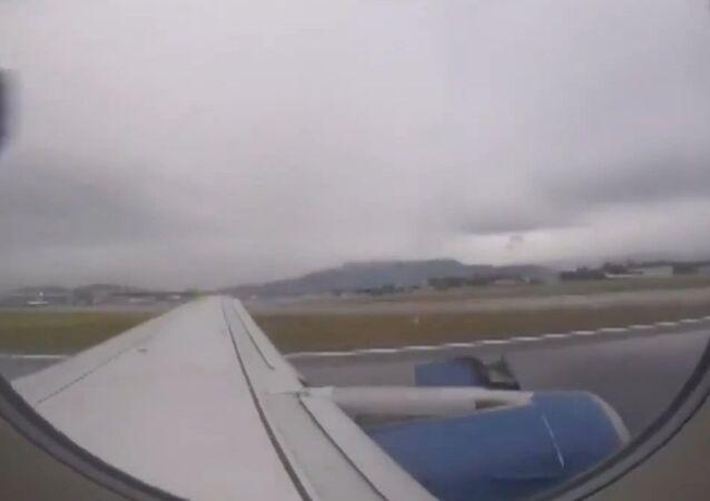 El momento exacto de la falla en avión de Sky
