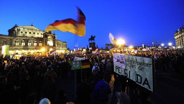 Supporters of the PEGIDA movement. - Sputnik International