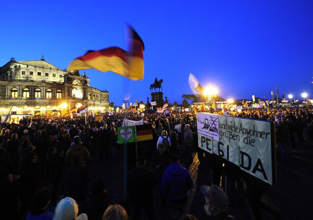 Supporters of the PEGIDA movement.