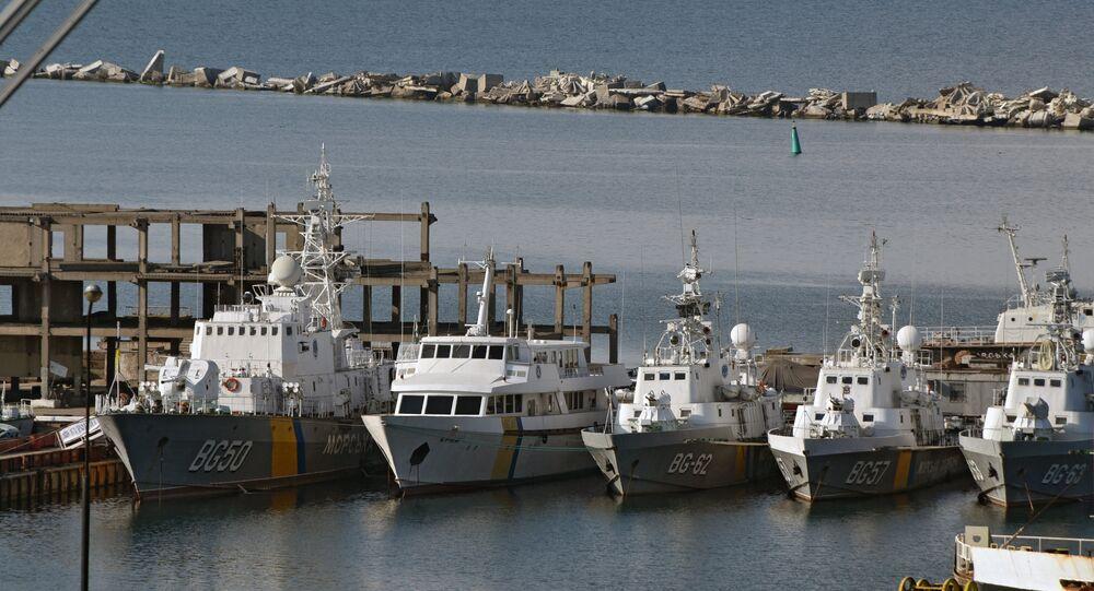Coast guard vessels of Ukraine in the Port of Odessa