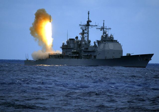 US Navy handout shows a Standard Missile Three (SM-3) being launched from the guided missile cruiser USS Shiloh