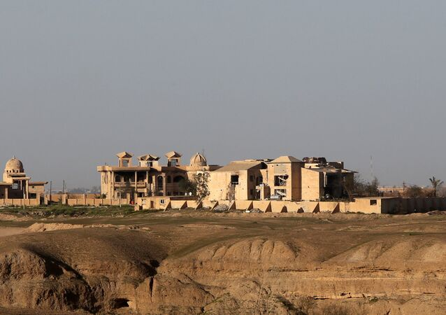 Palace of Iraq's former leader Saddam Hussein in the city of Tikrit