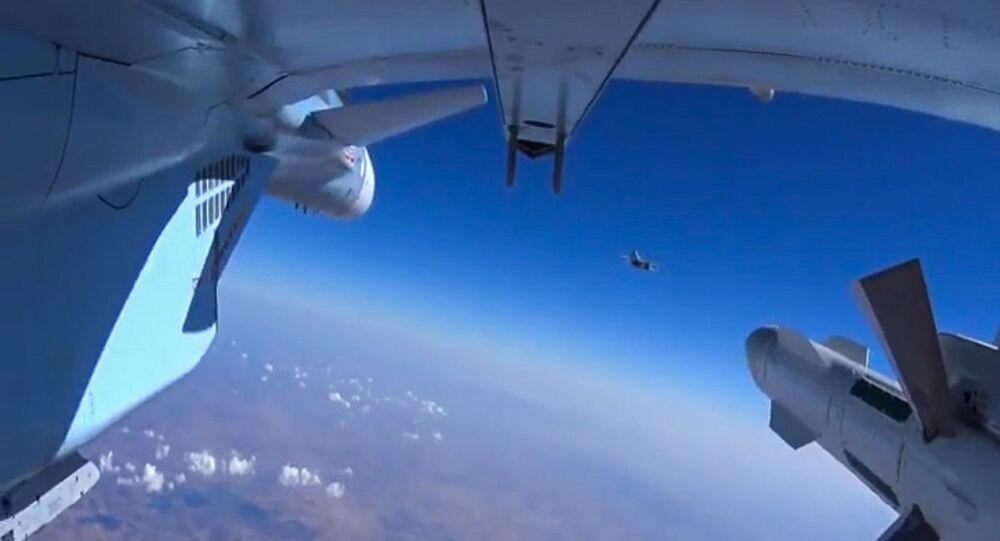 A Russian aircraft on a sortie to carry out targeted airstrikes on ISIS infrastructure in Syria