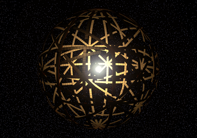 Artist rendering of a Dyson Sphere, a theoretical device used to harness a star's energy.