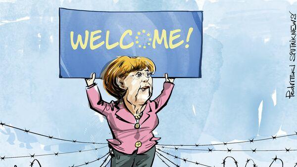 Great Wall of Merkel - Sputnik International