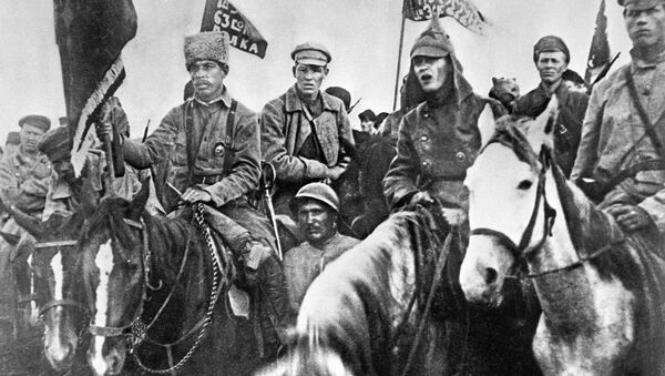 Soldiers of the 1st mounted army - Sputnik International