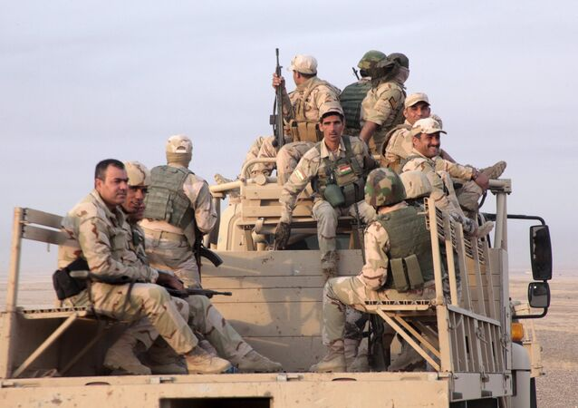 Members of the Kurdish security forces