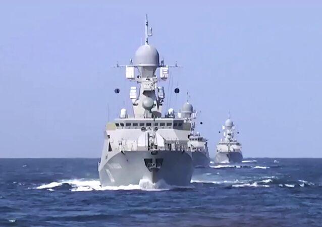 Caspian Flotilla warships