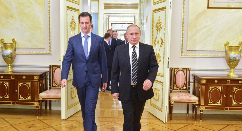 The meeting of Russian President Vladimir Putin and his Syrian counterpart Bashar Assad