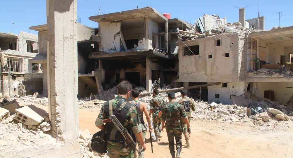 Syrian army at village of Salma and city of Zabadani
