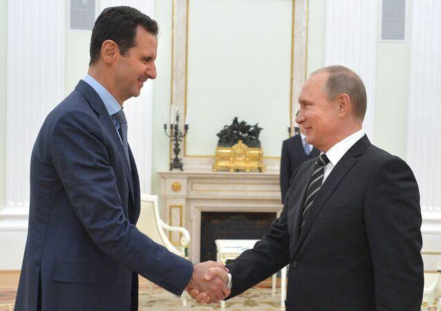 President Vladimir Putin meets with President of Syria Bashar al-Assad
