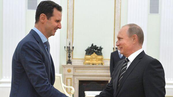 President Vladimir Putin meets with President of Syria Bashar al-Assad - Sputnik International