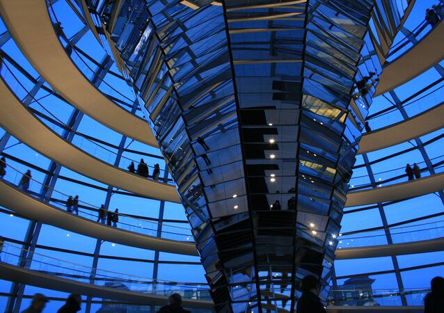 The dome of the Reichstag or German House of Parliament