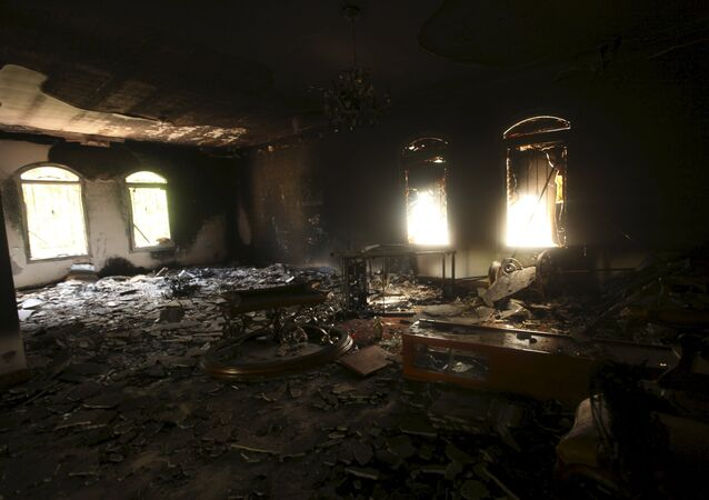 An interior view of the U.S. consulate, which was attacked and set on fire by gunmen, in Benghazi, in this September 12, 2012 file photo