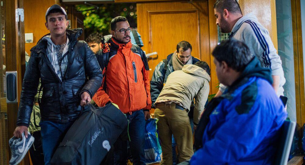 Refugee's arrive to Stockholm