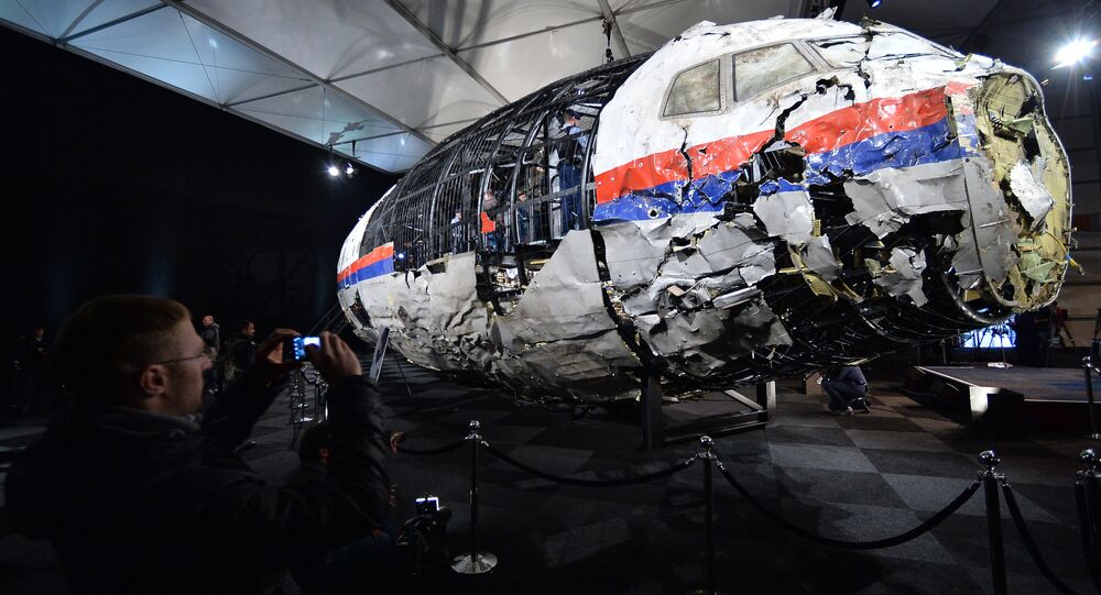 Presenting the final report on the Malaysia Airlines MH17 crash in eastern Ukraine on July 17, 2014, at the Gilze-Rijen Air Base in the Netherlands.file photo