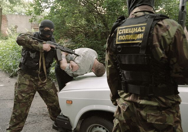 The detention of a drug dealer by a Russian special force unit