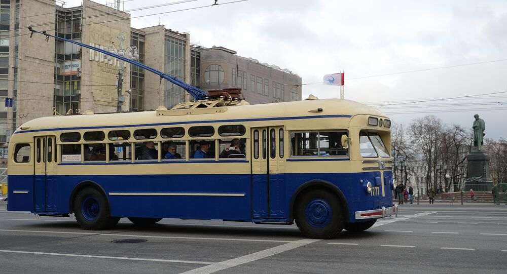 Moscow trolley parade