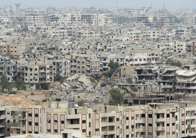 Jobar, a Damascus district controlled by terrorists