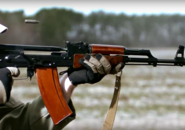 Kalashnikov in slow-motion