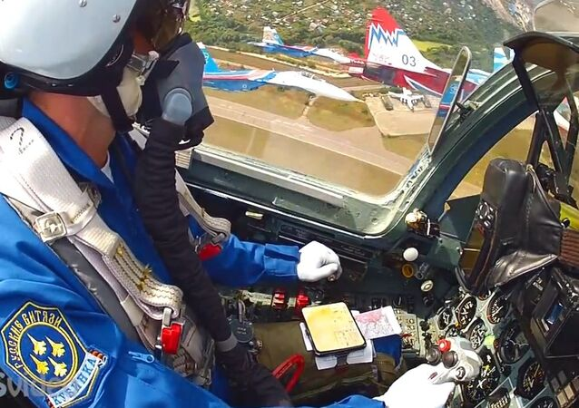 GoPro mounted the tail of the MiG 29 and Su 27 cockpit