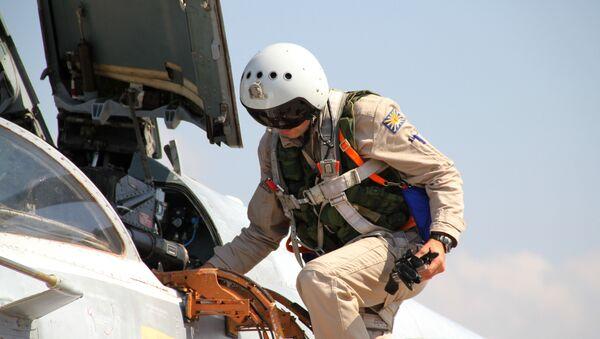 Russian military air group at Hmeymim airbase in Syria - Sputnik International