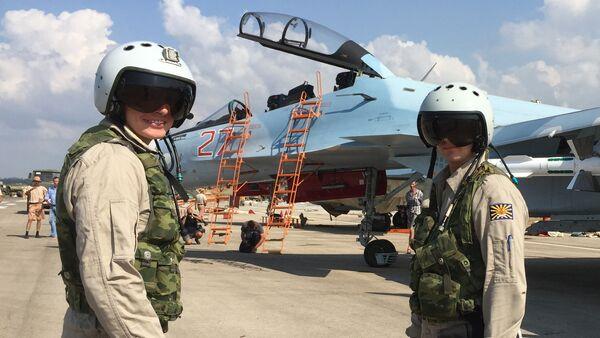 Russian tactical group seen at Hmeymim aerodrome in Syria - Sputnik International