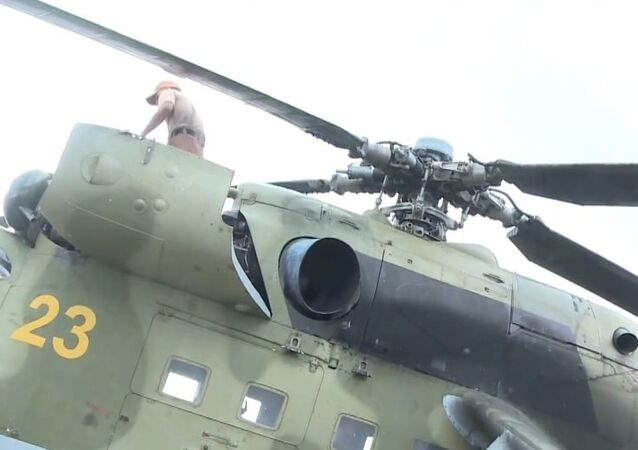 Syria: Russian helicopter gunships inspected before military deployment