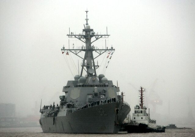 Guided missile destroyer USS Lassen arrives at the Shanghai International Passenger Quay in Shanghai, China