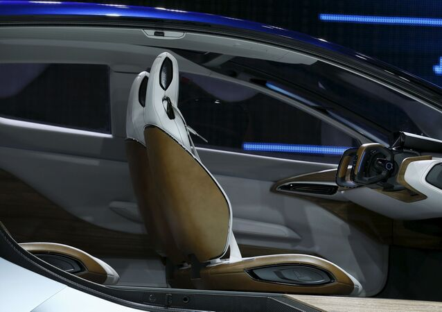 The interior of the Nissan IDS concept car is seen at the 44th Tokyo Motor Show in Tokyo