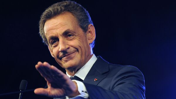 French former President and head of French right-wing opposition party Les Republicains (LR) Nicolas Sarkozy - Sputnik International